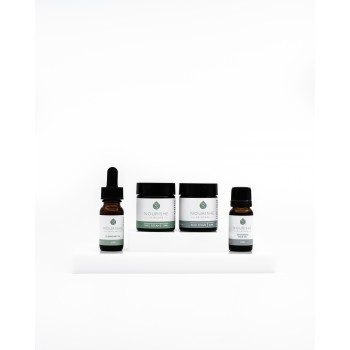 Sampler or Travel Pack - Nourishe Skincare Hydrating Face Oil 10 ml, Face Cream 30 ml, Face Scrub 30ml, Cleansing Oil 10 ml